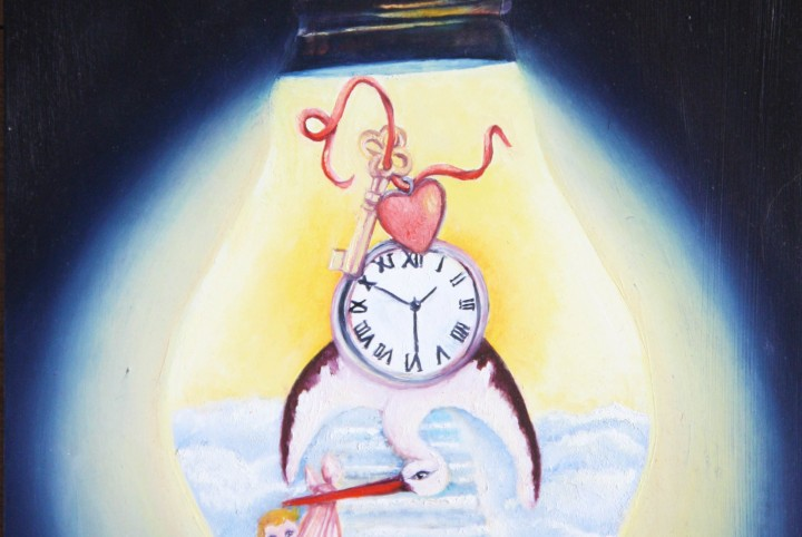 Geboorte, de trap naar de hemel, tijd, vergankelijk, liefde, de sleutel tot........,