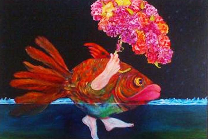 Vissen, bloemen, water, Evolutie van dier naar mens