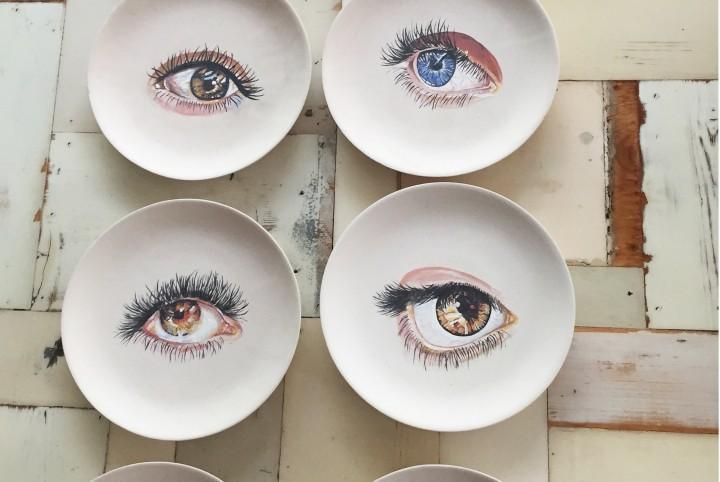 gebakbord oog