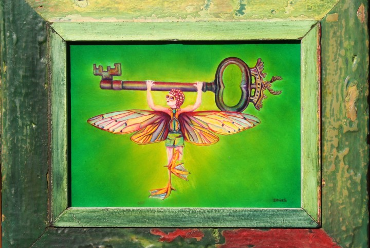 groen, sporten, badmuts, zwemmen, eenden poot, sleutel, vleugels
